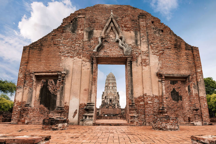 Wat phra si sanphet temple in ayutthaya historical park, this is ancient capital historical landmark