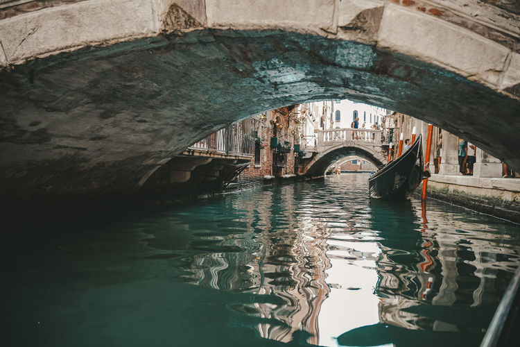Arch bridge over canal