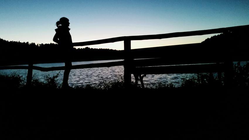 Sky Sunset Girl Woman Shadow Lake Polishgirl