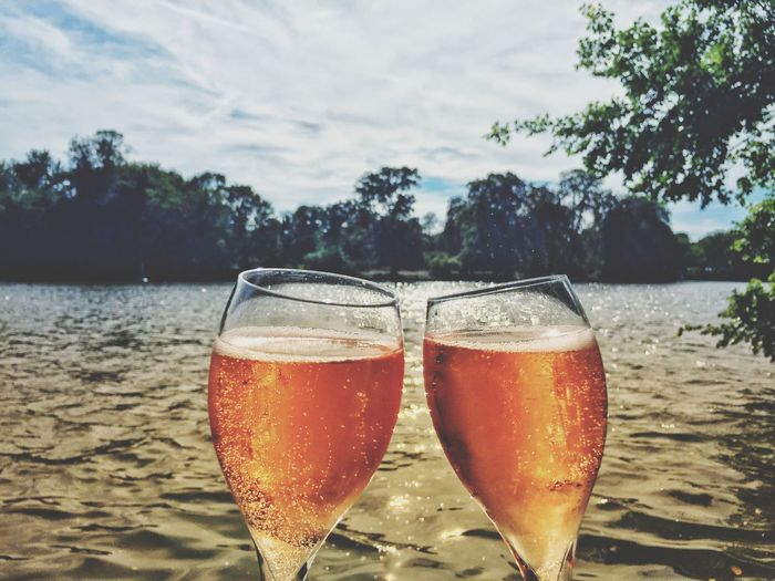 Sante All Day Rosé Rose Champagne Champagnelove Axelborisab Yesss Passion Santé Glasses Taste Tasty Rosechampagne Tree Alcohol Drink Beach Drinking Glass Champagne Sand Champagne Flute Summer Celebration