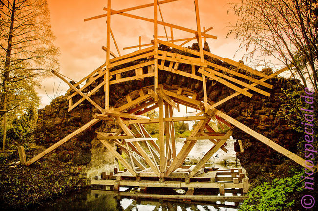 Bridges Restoration in Wörlitz Park Low Angle View Sky Outdoors Architecture Day Built Structure No People Bridge Nicospecial Flickr Close-up Nicospecial.de The Week On EyeEm Lightning The Architect - 2018 EyeEm Awards