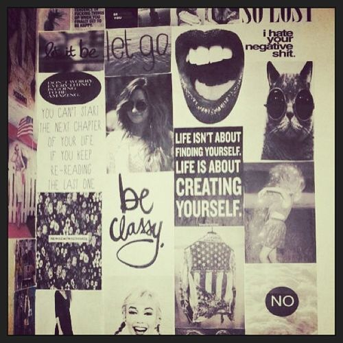 ?? Art Love Wall Beclassy letgo letitbe iHateYourNegativeShit createyourself words creative graphics illustration pics blackandwhite bnw monochromatic
