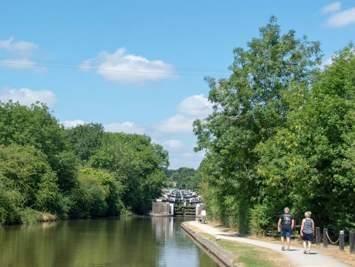 Hatton Locks Canal And River Trust Canals And Waterways Canal Tree Plant Water Sky Nature Growth Cloud - Sky Day Group Of People Real People Men Architecture Women Green Color Outdoors Built Structure Leisure Activity Lifestyles People