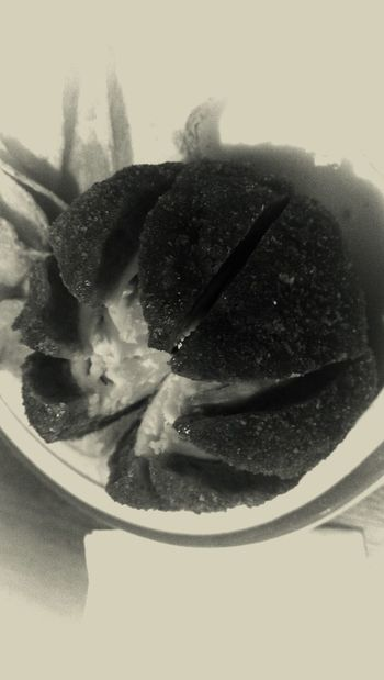 Scotch Egg. Food for nutters. Live To Eat Chaosmagick Texturestyles Blackandwhite thanks @boestbelle for the invite :)