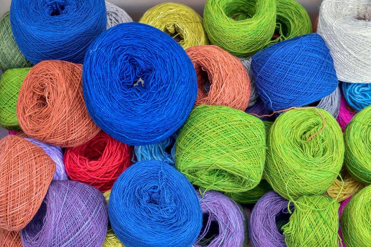 Full Frame Shot Of Colorful Threads