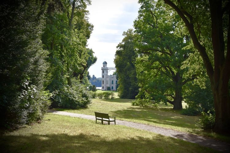 Absence Bench Berlin Castle Green Landscape Landscape_Collection Lonely Pfaueninsel Summer Tranquility