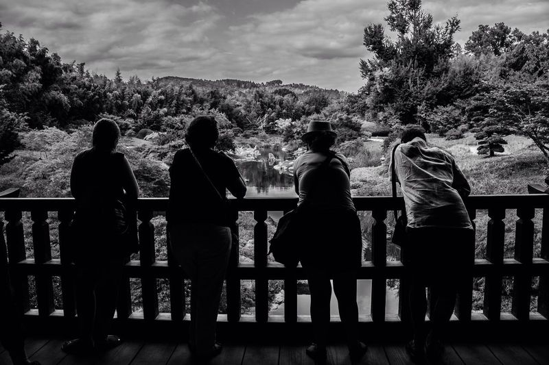 Portrait Group Of People Family Time Bnw Blackandwhite Monochrome Perspective Japonesegarden Garden Nature_collection Light And Shadow Composition EyeEm Best Shots From My Point Of View People And Places