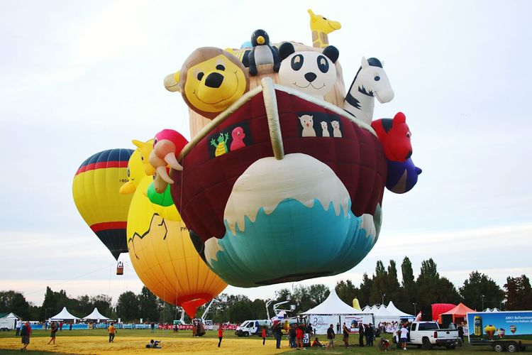 Ferrara Ferrara Balloons Festival Happy Colors Mongolfiera  Hot Air Balloon Sunny Day Balloon No People Sky Mongolfiera  Air Sun Arca Di Noé Arca Pulcino Arky Arkyballoon Free Your Mind Happines Multi Colored Day Italy