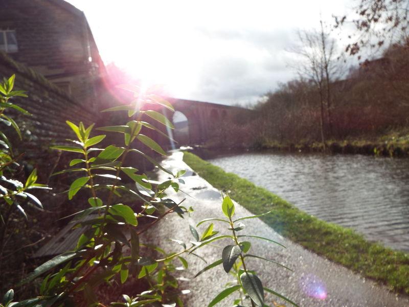 Saddleworth Viaduct in Uppermill, United Kingdom