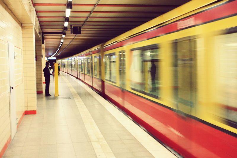 Berlincity Underground Fast Red Yellow Nice Day Loveit Walking Around Taking Photos Photowalk