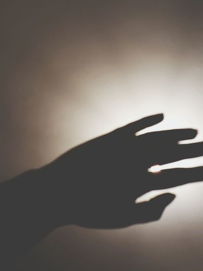 Shadow Mystery Silhouette Indoors  Human Hand Close-up Night People One Person