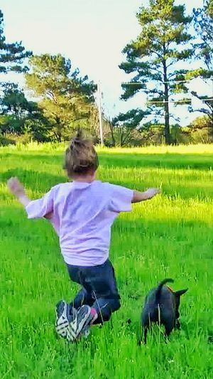 Photography In Motion Child Photography Dogs Of EyeEm Animal Photography Dog Playing Black Dog Dog Caught In Midair Animal Playing Kids Playing FUNNY ANIMALS Running In The Grass Playing Chase Chasing Stick Showcase April Telling Stories Differently Showing Imperfection