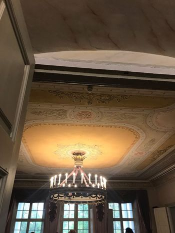 Made With IPhone 7 No Effects Museum Low Angle View Architecture Indoors  Ceiling Built Structure No People Lighting Equipment Chandelier Spirituality Travel Destinations Illuminated Glass - Material Luxury Architectural Column
