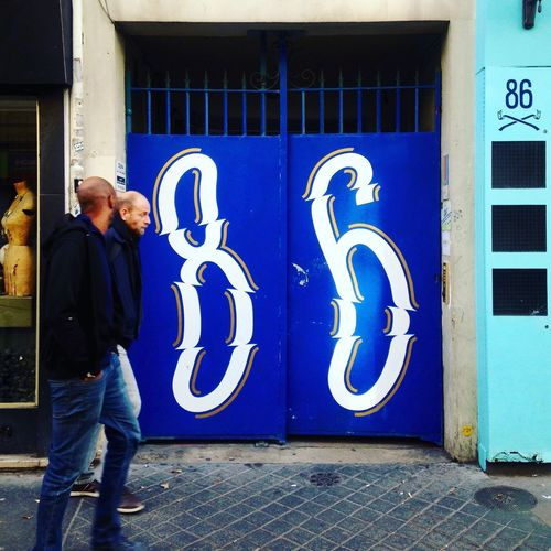 86 ! Lettering Streetphotography Design Typography Blue