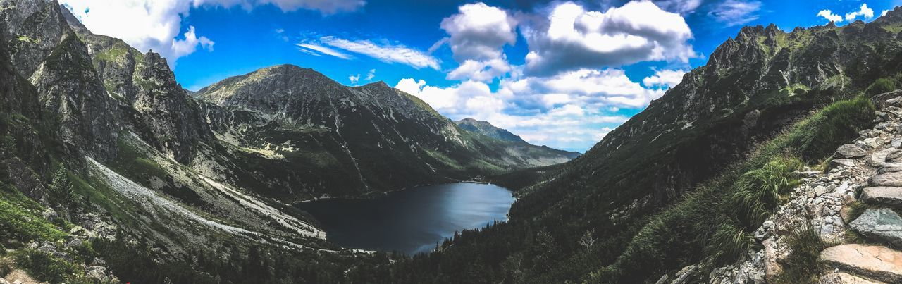 Beauty In Nature Cloud - Sky Day Mountain Mountain Range Nature No People Outdoors Panoramic Physical Geography River Scenics Sky Tranquil Scene Tranquility Tree Water Been There.