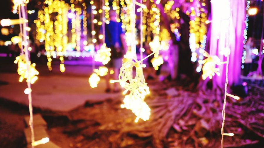 Night Hanging Tree Focus On Foreground No People Close-up Winter Celebration Christmas Illuminated Christmas Decoration christmas tree Christmas Lights Nature Cold Temperature Snow Outdoors Holiday - Event Beauty In Nature Fragility