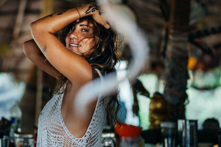 Soul kitchen Coffee Goa Morning Beautiful Woman Beauty Close-up Day Hippie Hippy Kitchen Lifestyles Love Yourself One Person Real People Women Camp California Dreamin This Is Latin America The Portraitist - 2018 EyeEm Awards Moments Of Happiness