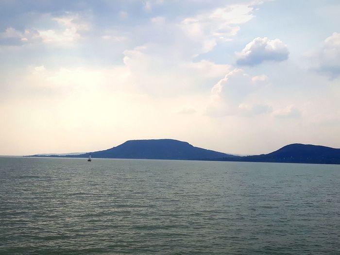 Balaton Balaton Fonyódliget Hungary Sea Water Mountain Sky