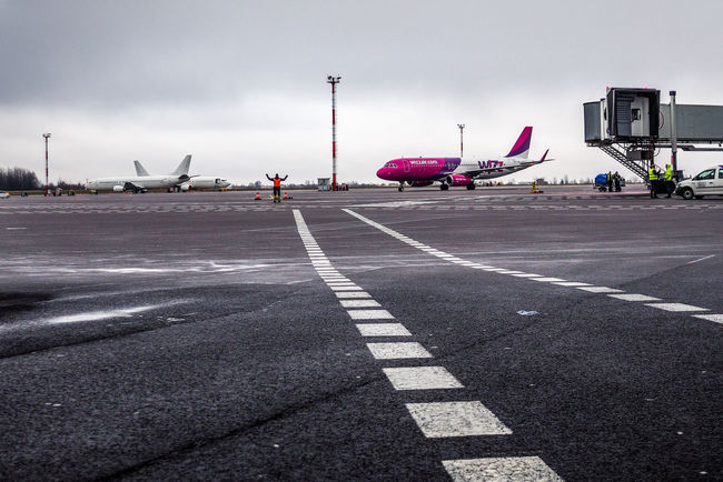 Airbus Lithuania Runway Vilnius Airport Air Vehicle Airplane Airport Airport Runway Architecture Day No People Outdoors Runaway Runway Sky Transportation Vno Wizz Wizzair