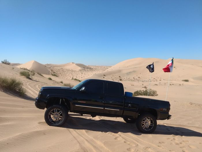 #chevrolet #Chevy #chevytrucks Sand Dune Clear Sky Desert Arid Climate Sand 4x4 Adventure Road Trip Off-road Vehicle City