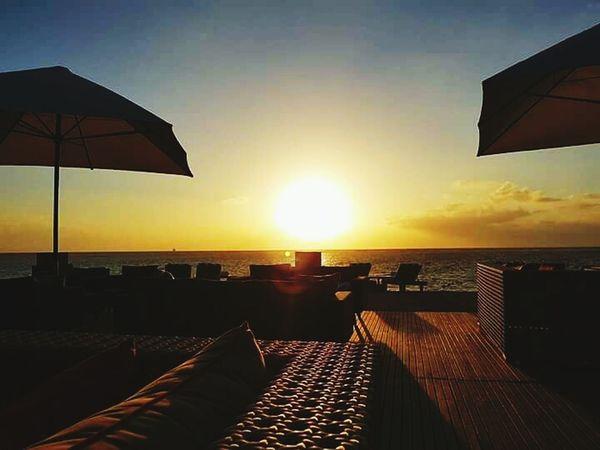 Sunrise And Clouds Vacations Horizon Over Water Beach Sunlight Sea Sun Tanjungbenoa Bali, Indonesia Beauty In Nature Eyem Best Shot - My World