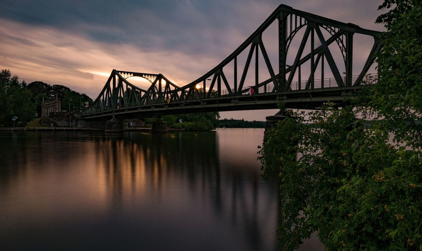 Glienicker Brücke Potsdam Arch Bridge Architecture Bridge Longtimeexposure Nature River Sky Water