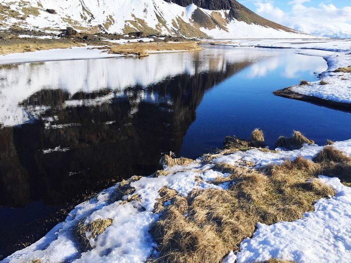 Cold Temperature Snow Winter Nature Water Lake Frozen Beauty In Nature Tranquility Scenics Ice Day Outdoors Tranquil Scene No People Frozen Lake Cold