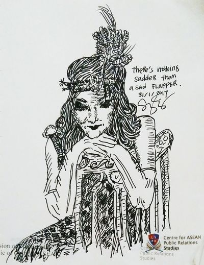 There's nothing sadder than a sad flapper. Tradition Activity Washing Drawing - Art Product Human Body Part Outdoors Adult People Day Flapper Flapper 1920 Flapper Girl Flappergirls Fashion Fashion&love&beauty Fashion Hair Fashionista Fashionist