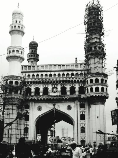 char minar Hyderabad Heritage Hyderabad,India Hyderabad Monuments The Architect - 2018 EyeEm Awards City Crowd History Arch Cultures Architecture Building Exterior Built Structure Sculpture Place Of Interest