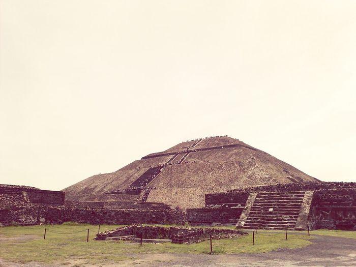 Teotihuacan Piramide Del Sol Sun Piramid