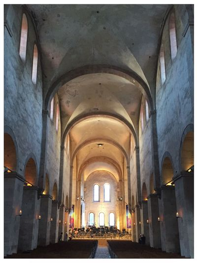 Kloster Eberbach, Rheingau Musik Festival 2016. Architecture Ceiling Arch Church Architectural Feature Classical Music Rheingau Kloster KlosterEberbach First Eyeem Photo