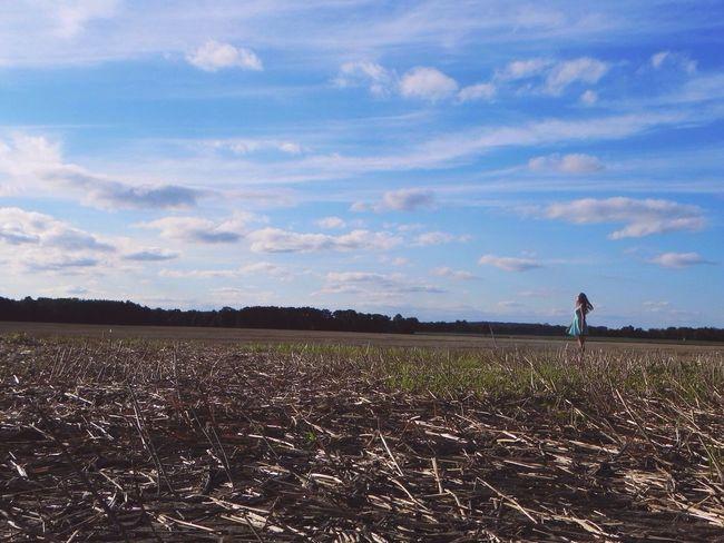 Sky And Clouds Sky Girl Enjoying The Sun
