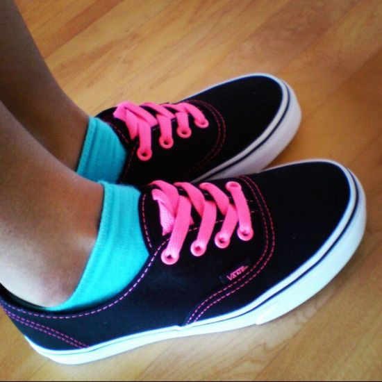 Fresh black and hot pink vans Shoe Fashion Black Hotpink Vans