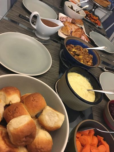 Thanksgiving Dinner 2017 Food And Drink Food Bowl Plate Ready-to-eat Indoors  Food Stories High Angle View No People