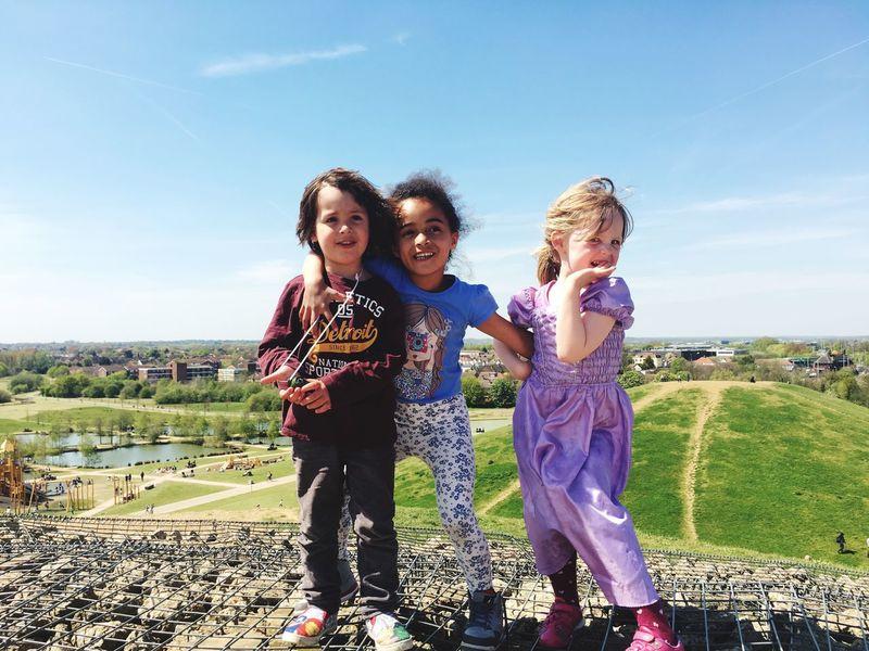The Essence Of Summer 3 Kids Children Friends Sunshine Landscape Blue Sky