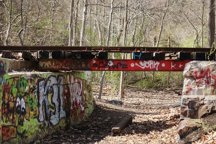 Graffiti Text Railroad Track Connecticut Words Street Art Outdoors Nature