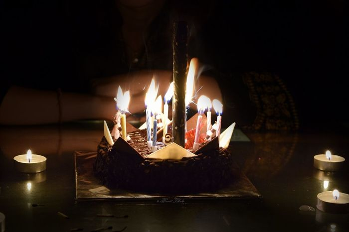 When a day is special and some things make it more special..... Birthday Cake Birthday Candles Candle Celebration Close-up Flame Life Events Special Day ❤ Special Moment