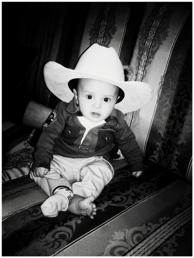 My Nephew ♥ Cowboy Babyboy Littlefeet BlackandwhitephotographyFeet 3MonthsOld Beautiful Black&white Lovecountry Baby Cowboy<3