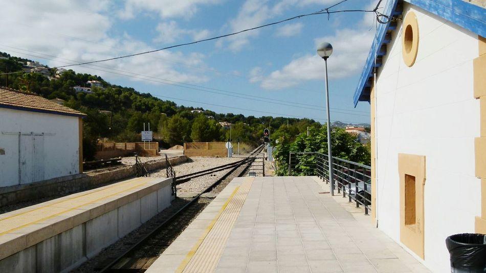 Railway Station Railway SPAIN Calpe Alicante España Railroad Tracks Railways_of_our_world Railwaystation Railways Railphotography Railaway
