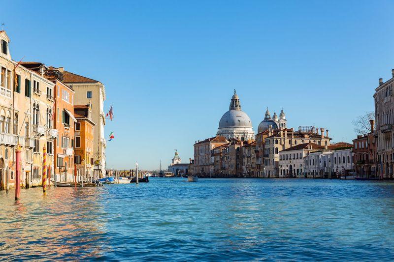 Grand Canal, Venice Lagoon Venice, Italy Venezia Veneto Region Italy🇮🇹 EyeEm Selects EyeEm Gallery Italy Grand Canal Of Venice Sky Waterfront Religion Place Of Worship Travel Destinations Spirituality Travel My Best Photo