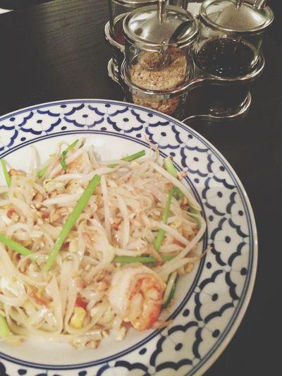 Thai Food Meeting Friends Having Fun