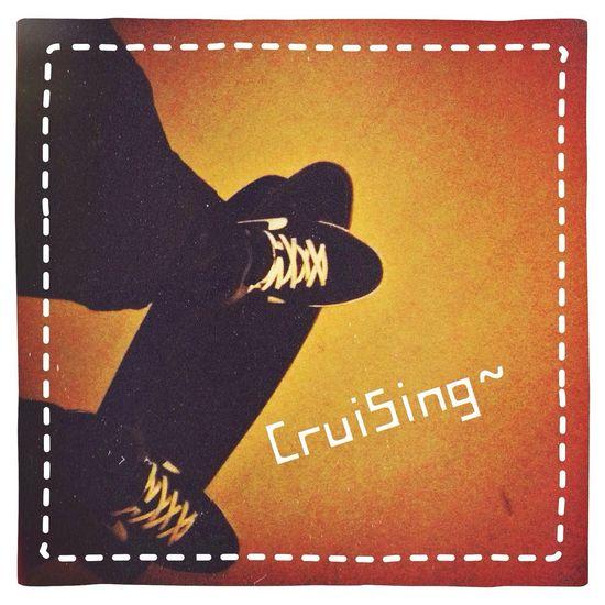 Skateboarding Cruising Enjoying Life