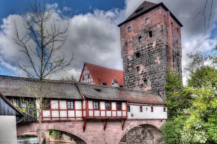 Bavaria Henkersteg Nuremberg Nuremberg Old Town Architecture Brigde Franconia Pegnitz Tower