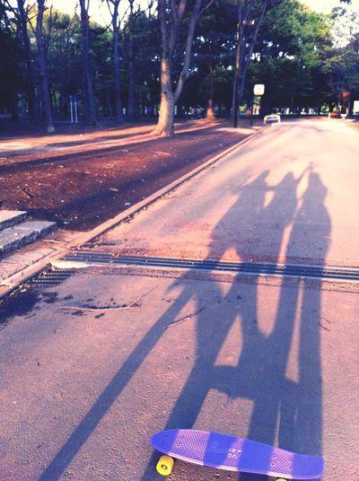 Friends Skateboarding