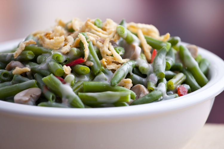 Close-Up Of Green Bean Casserole