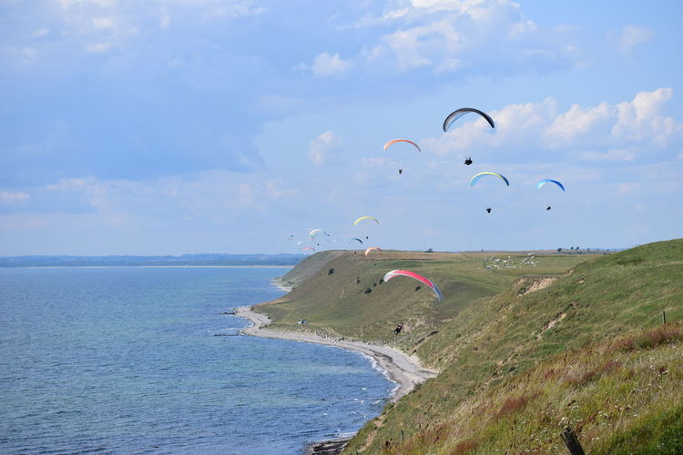 Paragliding on
