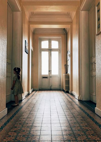 Architecture Building Indoors  Built Structure Flooring Entrance Door Window Home Interior Corridor Domestic Room Sunlight Arcade History Tiled Floor Old Day