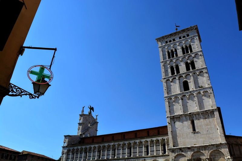 Lucca Italy Architecture Blue Building Exterior Built Structure Clear Sky Day Low Angle View No People Outdoors