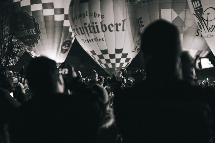 Hot air balloons Group Of People Crowd Large Group Of People Real People Men Adult Women Travel Lifestyles Transportation Mode Of Transportation Outdoors Selective Focus Photography Themes Text Journey Leisure Activity Focus On Background Communication Montgolfiade Hot Balloon Hot Air Balloon