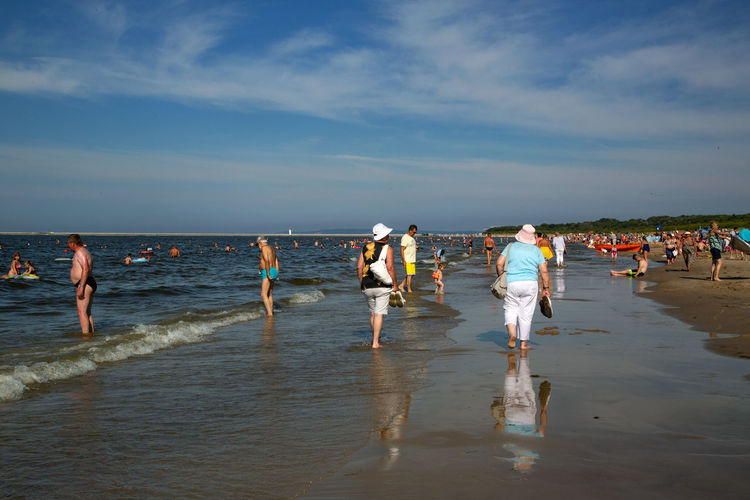 Baltic Sea Adult Beach Crowd Day Group Of People Horizon Over Water Land Large Group Of People Leisure Activity Lifestyles Men Nature Outdoors Real People Sand Sea Sky Water Weekend Activities Women